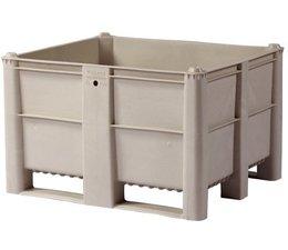 DOLAV Palettenbox 1200x1000x740 mm, volume 600 l, 2 langslatten, voor zware lasten en voedingsgeschikt