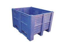 DOLAV Caisse palette 1200x1000x740 • 620L bleu perforé