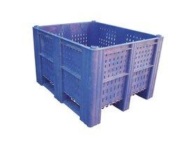 DOLAV Caisse palette 1200x1000x740 mm, volume 620 l ,3 semelles, pour charges lourdes et usage alimentaire