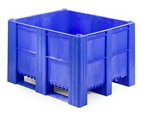 DOLAV Box Pallet 1200x1000x740 • 620L blue solid