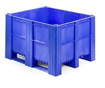 DOLAV Palletbox 1200x1000x740 • 620L  blauw gesloten