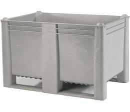 DOLAV Box pallet 1200x1000x740 mm, volume 500 l, 2 skids, heavy duty, food proved plastic