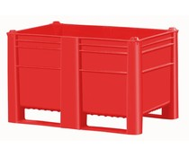 DOLAV Palletbox 1200x800x740 • 500L  rood gesloten
