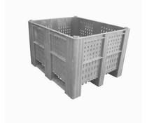 DOLAV Palettenbox 1200x1000x740 • 620L grau perforiert