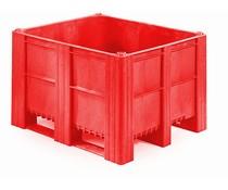 DOLAV Palletbox 1200x1000x740 • 620L  rood gesloten