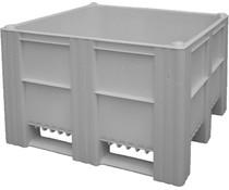 DOLAV Palettenbox 1200x1000x740 • 620L grau geschlossen