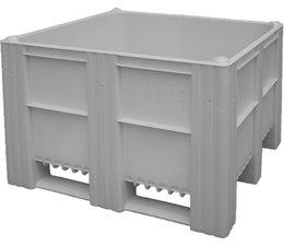 DOLAV Box pallet 1200x1000x740 mm, volume 620 l, 3 skids, heavy duty, food proved plastic