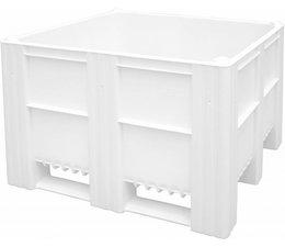 DOLAV Palettenbox 1200x1000x740 mm, Volumen 620 l, 3 Kufen, geeignet für schwere Lasten und Lebensmittekontakt