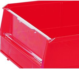 Hinged transparent front cover for storage bins BISB4 10 pieces