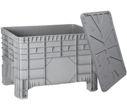 Large capacity containers 1040x640x670 mm, with lid, 4 feet, 285L closed