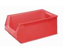 Plastic storage bin 500x310x200 mm, 28L red