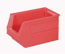 Kunststof Magazijnbak 350x210x200 mm, 13L rood