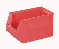 Plastic storage bin 350x210x200 mm, 13L red
