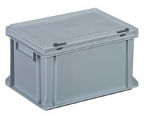 Euro container with attached lid