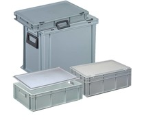 Complete range of Euro boxes with lid
