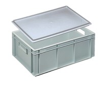 Eurocontainer with cover lid