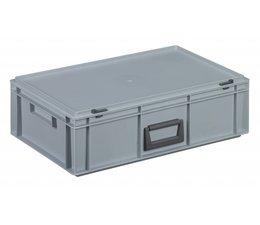 Kunststof koffer stapelbak met deksel en handgreep 32,5 L, 600x400x183