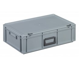Plastic cases with cover lid and handles, 32.5 L, 600X400x183 mm