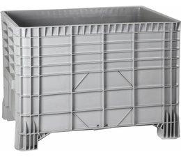 Grootvolume stockage en transport bak 1200x800x800 mm, 4 poten, 550L gesloten
