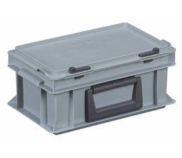 Kunststof koffer stapelbak met deksel en handgreep 4,9L, 300x200x133
