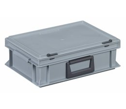 Plastic cases with handles 400x300x133, Grey