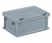 Plastic container with integrated lid 400x300x183