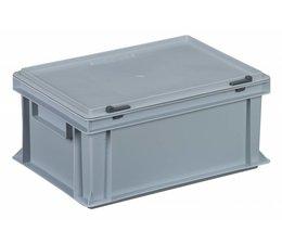 Bac avec couvercle intégré et articulé 400x300x183, Gris