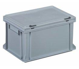 Kunststoffbehälter mit Scharnierdeckel 400x300x233