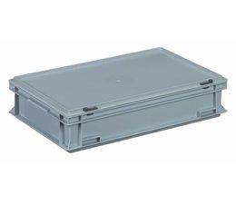 Kunststoffbehälter mit Scharnierdeckel 600x400x133