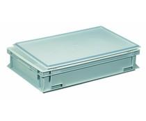 Kunststoffbehälter mit Auflagedeckel 600x400x133