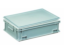 Plastic container with cover lid 600x400x163