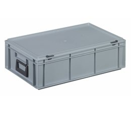 Plastic cases with cover lid and two handles, 32,5 L, 600X400x183 mm