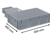 Plastic Euro stacking container 600 x 400