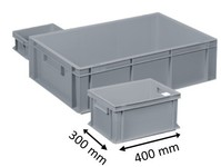 Plastic Euro stacking container 400 x 300