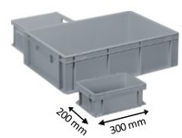 Plastic Euro stacking container 300 x 200