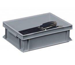 Bac à couverts 400x300x120 mm fond et parois plein(es), pour charges lourdes et usage alimentaire