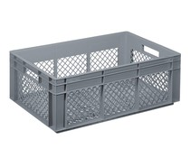 Glass crate 600x400x220 perforated walls and bottom