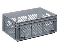 Glass crate 600x400x236 perforated walls and bottom