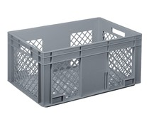 Glass crate 600x400x280 perforated walls and bottom