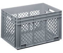 Glass crate 600x400x338 perforated walls and bottom