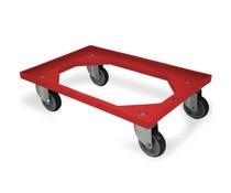 Transportroller 610x410x161mm rubber wielen