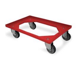 Transportroller 610x410x161mm vier Gummiräder, offener Deck