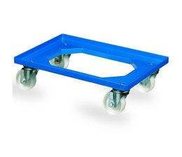 Transportroller 620x420x170mm met 4 polyamide zwenkwielen, open dek