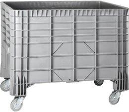 Großvolumenbehälter 1200x800x940, 4 Lenkrollen, 550L geschlossen