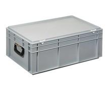 Kunststof Koffer 600x400x233 twee hendels • 42 liter