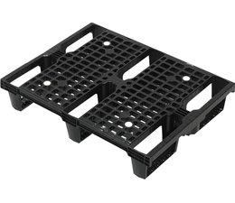 Demi palette dusseldorfer emboitable en plastique 800x600x150 • Plancher supérieur ouvert • palette légère