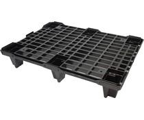 Demi palette 800x600x130 • emboitable • plancher supérieur ouvert