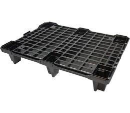 Leichte nestbare Exportpalette aus Kunststoff 800x600x130 offenes Deck