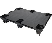 Demi palette 800x600x130 • emboitable • plancher supérieur plein