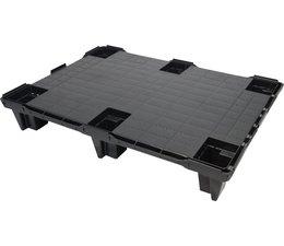 Palette export emboitable en plastique 1200x800x130 • Plancher supérieur plein • palette légère